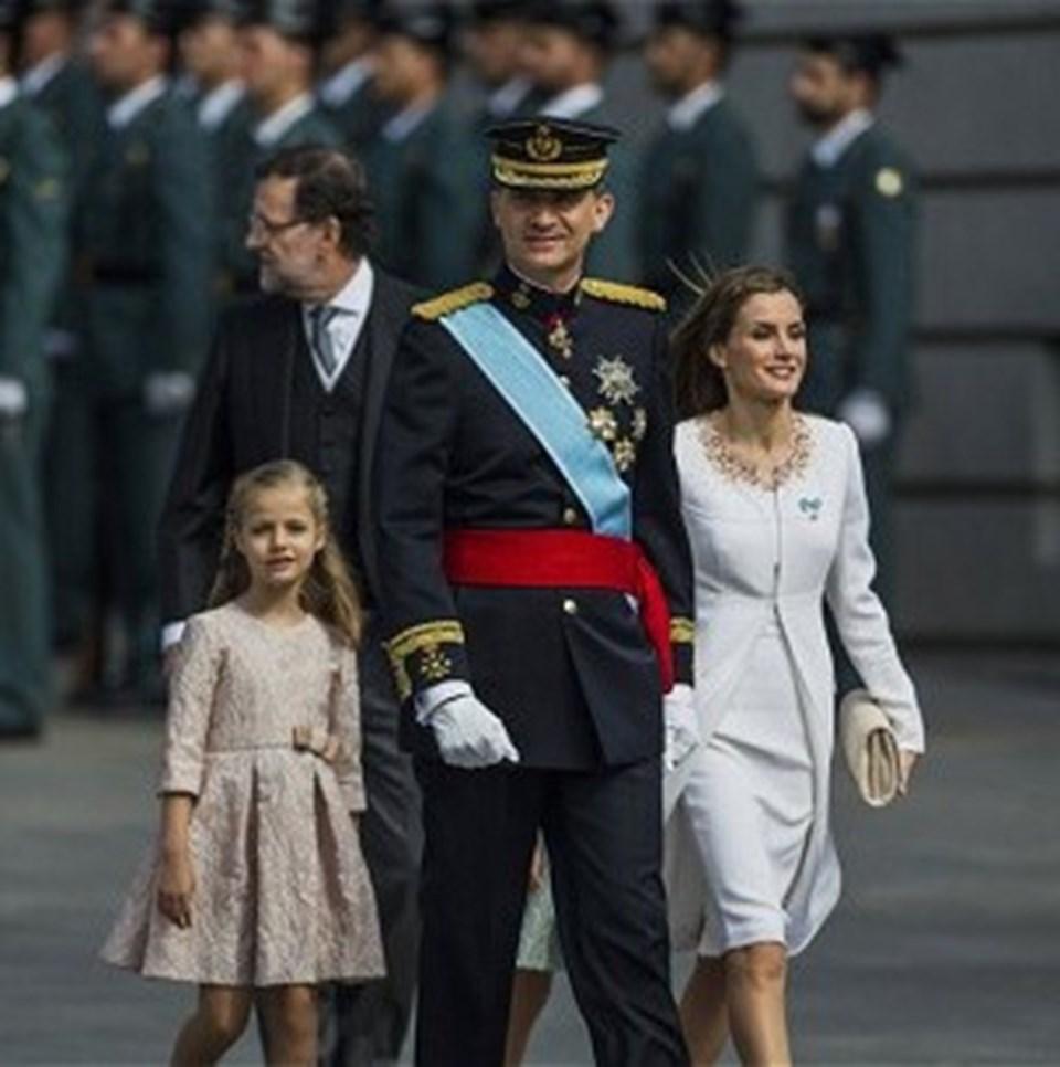 Kral Felipe, Kraliçe Letizia ve Prenses Leonor