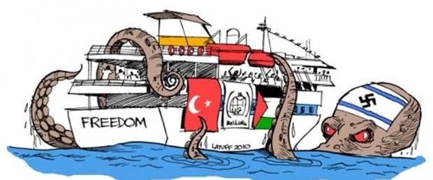 İsrail saldırısını bu karikatürle eleştirdi