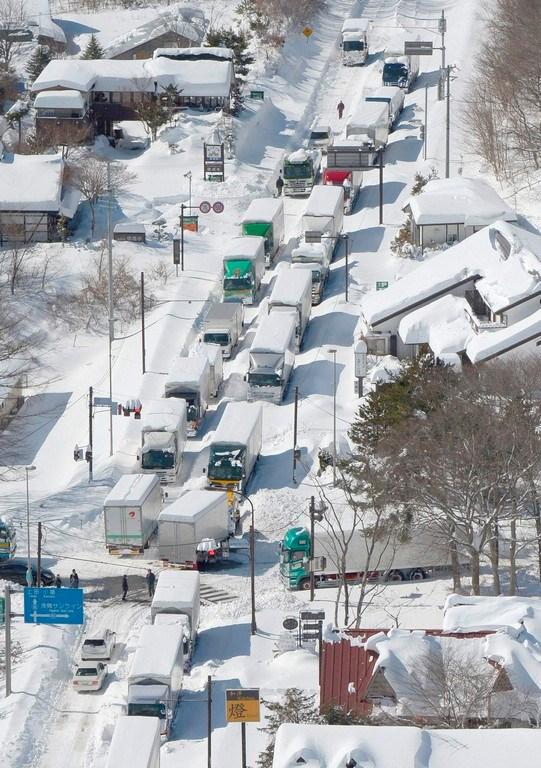 Japonya'da kar otomotiv sektörünü vurdu