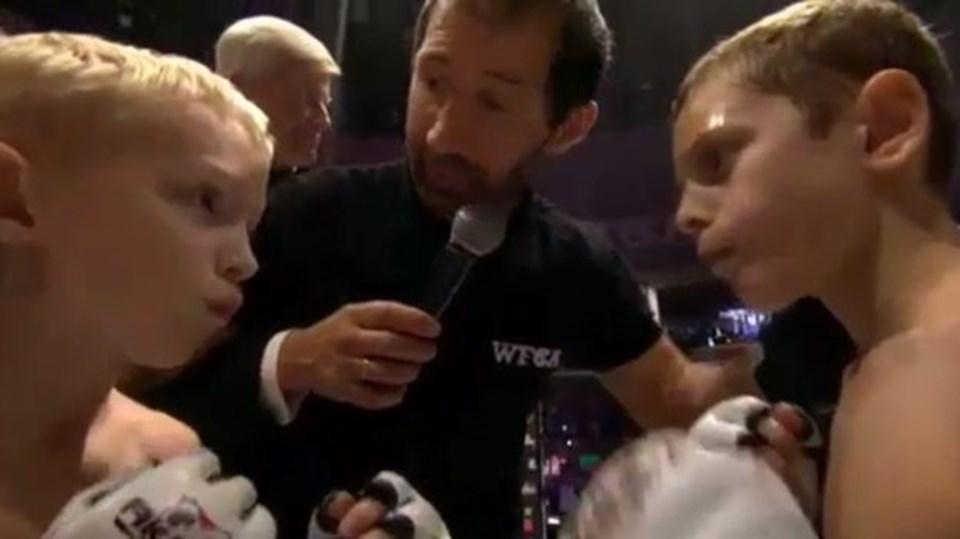 Kadirov'un ortanca oğlu Ali'nin (sağda) maçı Çeçen liderin instagram hesabından paylaşıldı.