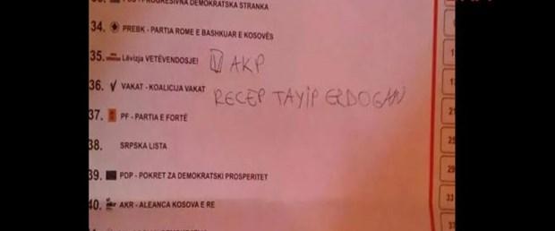 Kosova seçimlerinde Erdoğan'a oy