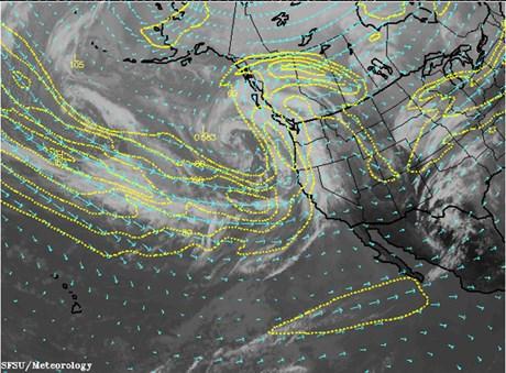 Japonya'dan ABD'ye doğru esen kuvvetli rüzgarlar olası radyoaktif bulutları Pasifik Okyanusu'nun ötesine taşıyabilir.