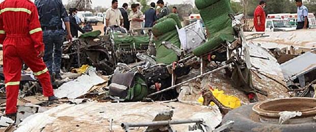 Libya askeri uçağı Tunus'ta düştü