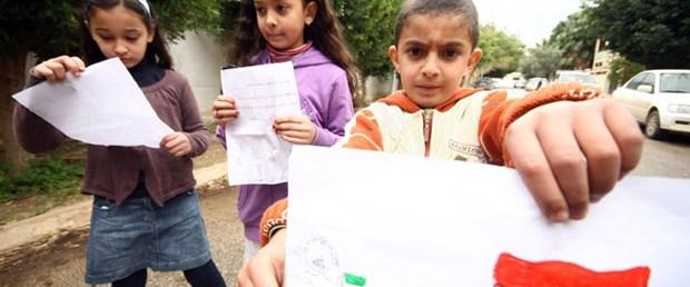 Libyalı çocuklardan Gül'e mektup var