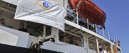 Libya'nın yardım gemisi Mısır'da