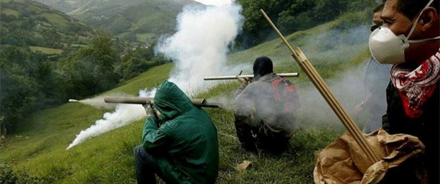 Maden işçilerinin 'roket'li isyanı