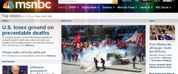 msnbc.com IMF protestolarını böyle duyurdu