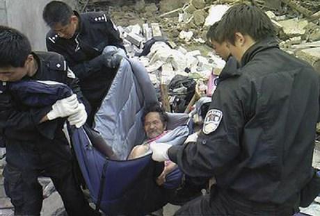 Xiao Zhihu'nun kurtarılma anı.