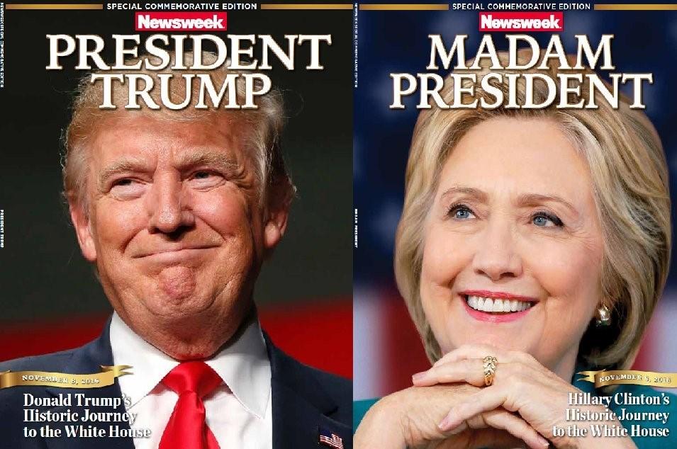 Newsweek iki ayrı özel sayı hazırladı ancak hata yaparak sadece Clinton özel sayısını dağıttı.