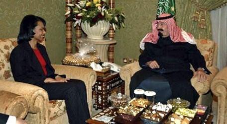 ABD eski Dışişleri Bakanı Condoleezza Rice da bugün Riyad'da olacak. Rice, Kral Abdullah'ı Suudi Arabistan'da ziyaret etmiş ve hediyeler almıştı.
