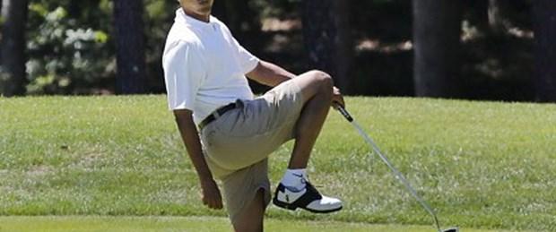 Obama'nın golf keyfi