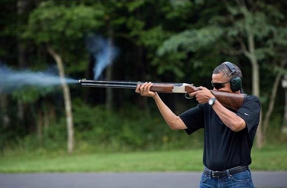 Obama'nın tüfeği alay konusu