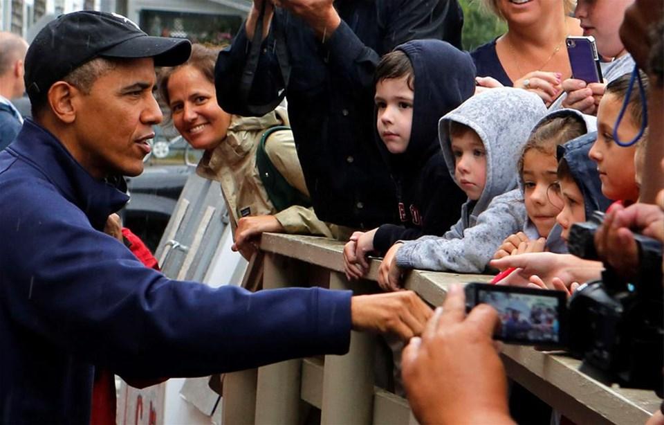 Obama'yı yağmur da durdurmadı