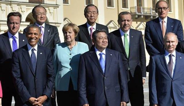 Rusya'nın St.Petersburg kentindeki zirveye Başbakan Recep Tayyip Erdoğan da katılmıştı.