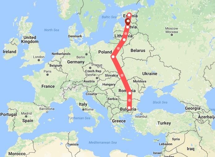 NATO füze savunma kalkanını yerleştireceğini açıkladığı ülkeler.Kaliningrad ise bu ülkelerin batısında, Rusya anakarasından ayrı bir şekilde Baltık Denizi'nde bulunuyor.