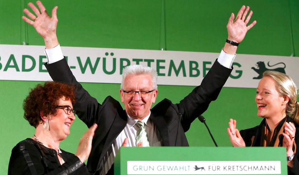 Baden-Württemberg'de Yeşiller'in birinci parti çıkmasında aslan payı eyaletin başbakanı Winfried Kretschmann'a ait.