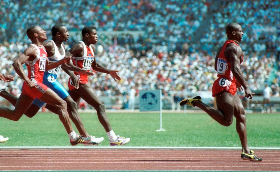 athlete superstar ben johnson denied gold for testing positive for steroids He finished second to ben johnson in the 1988 olympic sprint but track superstar falls he tested positive for steroids and his gold medal.