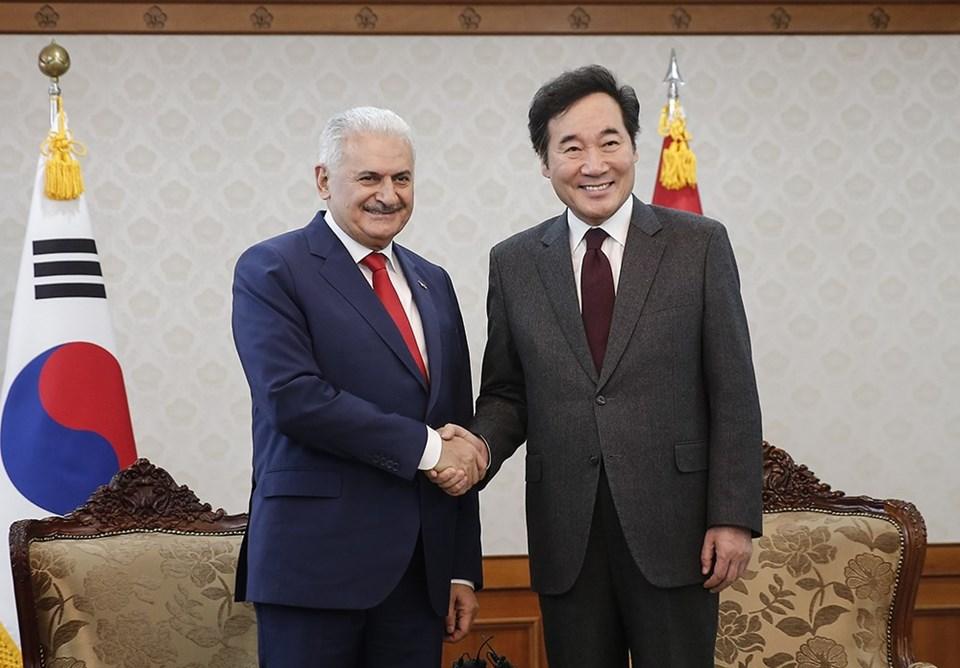Başbakan Binali Yıldırım ile Güney Kore Başbakanı Lee Nak-yeon