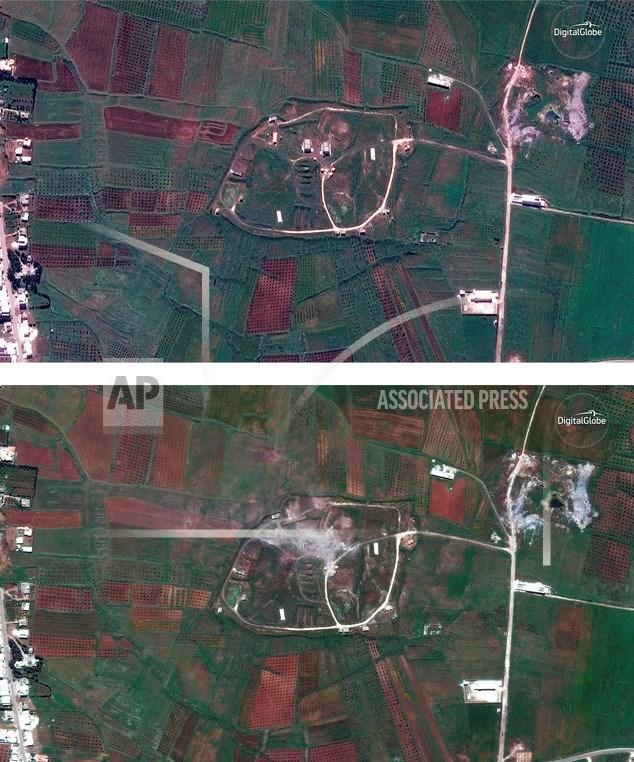 ABD'nin hava saldırısı, uydudan böyle görüntülendi.