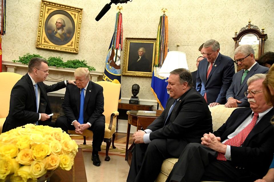ABD Başkanı Trump,, Brunson'ın serbest bırakılması konusunda Cumhurbaşkanı Recep Tayyip Erdoğan'a teşekkür etti.
