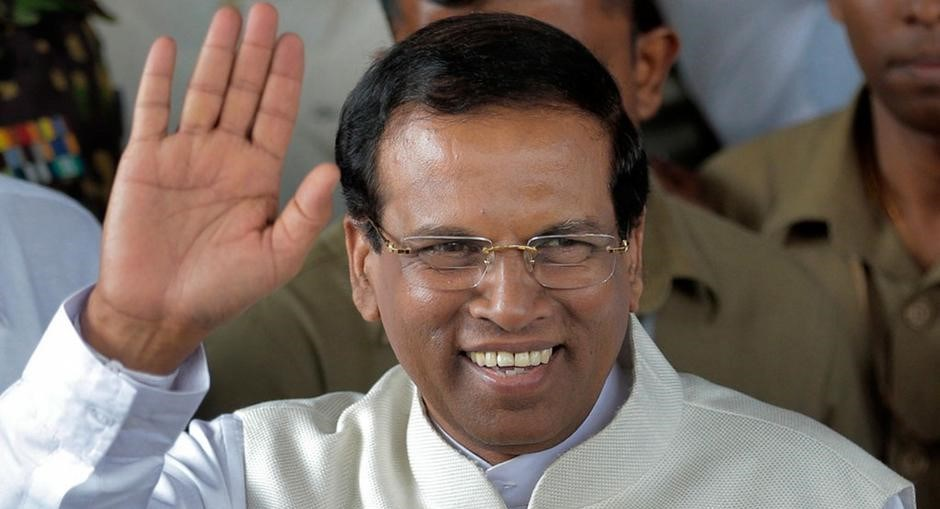 Sri Lanka Devlet Başkanı Sirisena, seçimi kazanması halinde bile Rajapakse'ye görevi vermeyeceğini açıklamıştı.