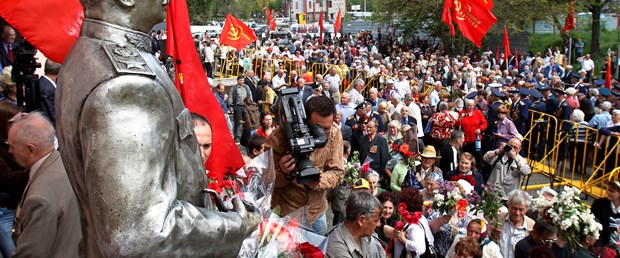 SSCB'nin ardından ilk Stalin heykeli