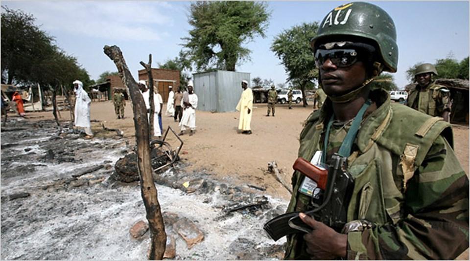Darfur'daki Afrika Birliği askerleri