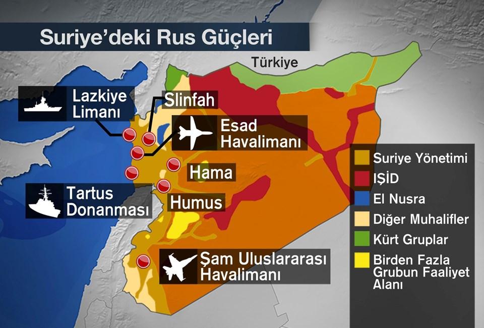 Rusya'ya ait kuvvetler Suriye'de Esad'ı kurtarmak için yeni bir cephe açtı