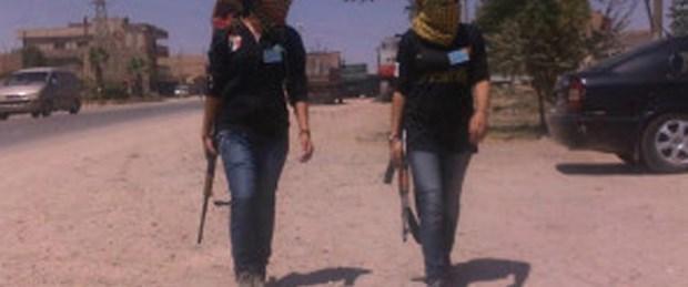 Suriyeli Kürt kadınlar cephede