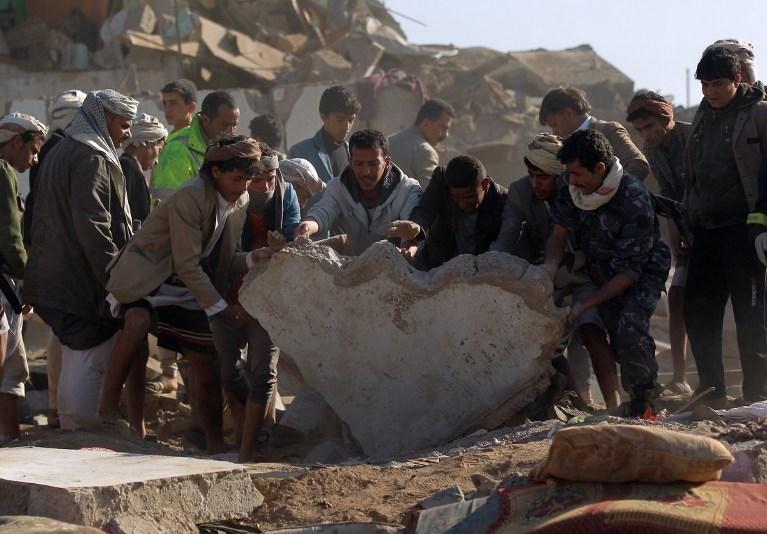 Suudi Arabistan'ın öncülüğündeki operasyonda birçok bölge bombalandı.
