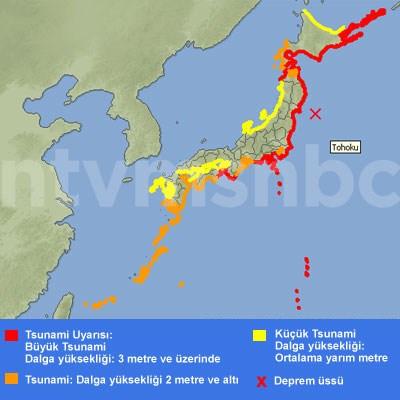 Tsunami riski altındaki Japon kıyıları