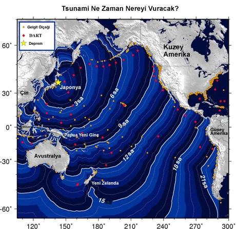 Tsunami riski altındaki ülkeleri daha büyük görmek için resme tıklayın.