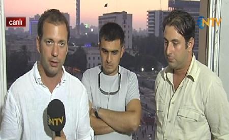 NTV muhabiri Can Ertuna, Murat Uslu (sağda) ve Zafer Karakaş ile görüştü.
