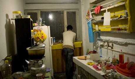 Türkiye'deki İranlı mültecilerin kaldığı bir ev.