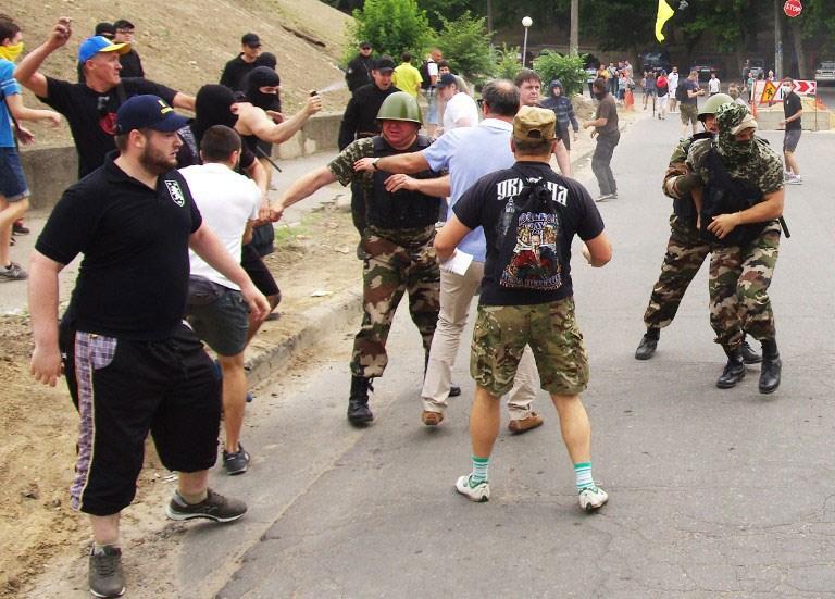 Ukrayna'da ölümüne kavga