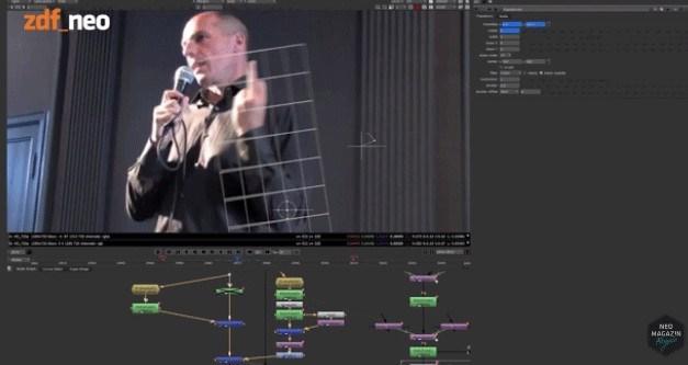Alman komedyen Jan Böhmermann, Varufakis'in videosunda foto montajı nasıl yaptıklarını anlattı.