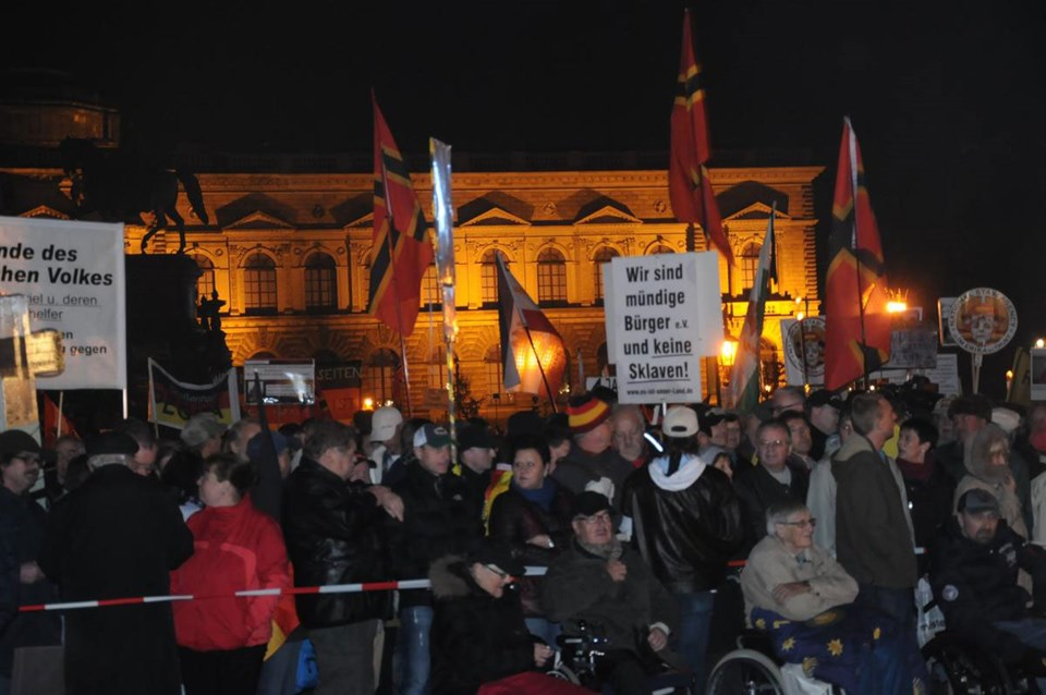 dresden muslim Pegida marchers, some 17,500 of whom took to the street in dresden tonight, claim that islam threatens germany but their anger may stem in large part from issues held over from reunification.