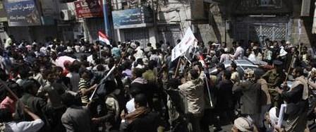 Yemen'de protestoculara saldırı: 26 yaralı