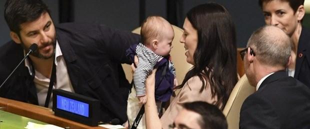 Yeni Zelanda Başbakanı, BM'deki zirveye bebeğiyle geldi