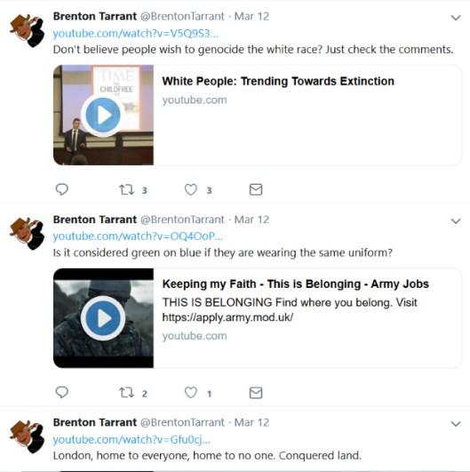 BRENTON TARRANT'IN TWITTER HESABI