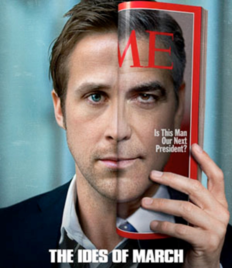 'The Ides of March' filminin hem senaryo yazımına ortak olan, hem de yönetmenliğini yapan Clooney, filmde ayrıca ABD Başkanlık yarışı sürecindeki ön seçimlerde aday olan Vali Mike Morris rolünde...