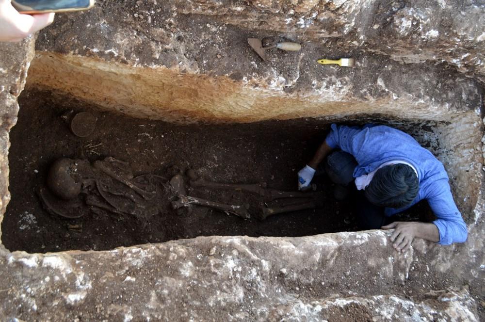 Perre Antik Kenti'nde 1500 yıllık insan iskeleti bulundu - 7