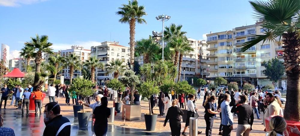 Son Dakika: İzmir'deki 6.6'lık depremden kareler - 4