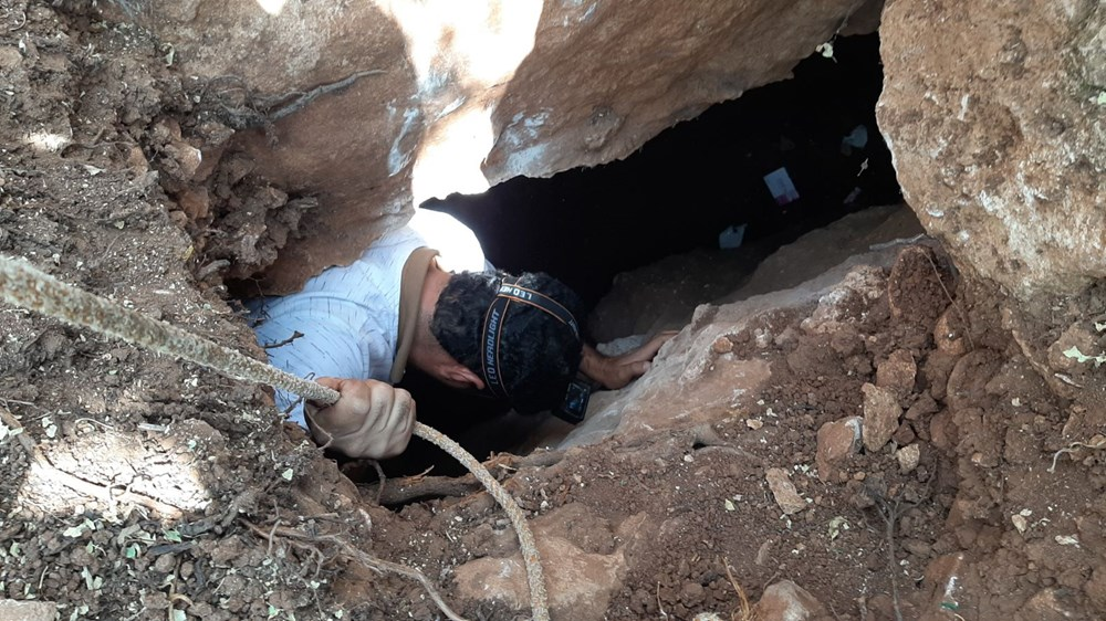 Adıyaman'da foseptik çukuru kazarken tünel buldular - 6