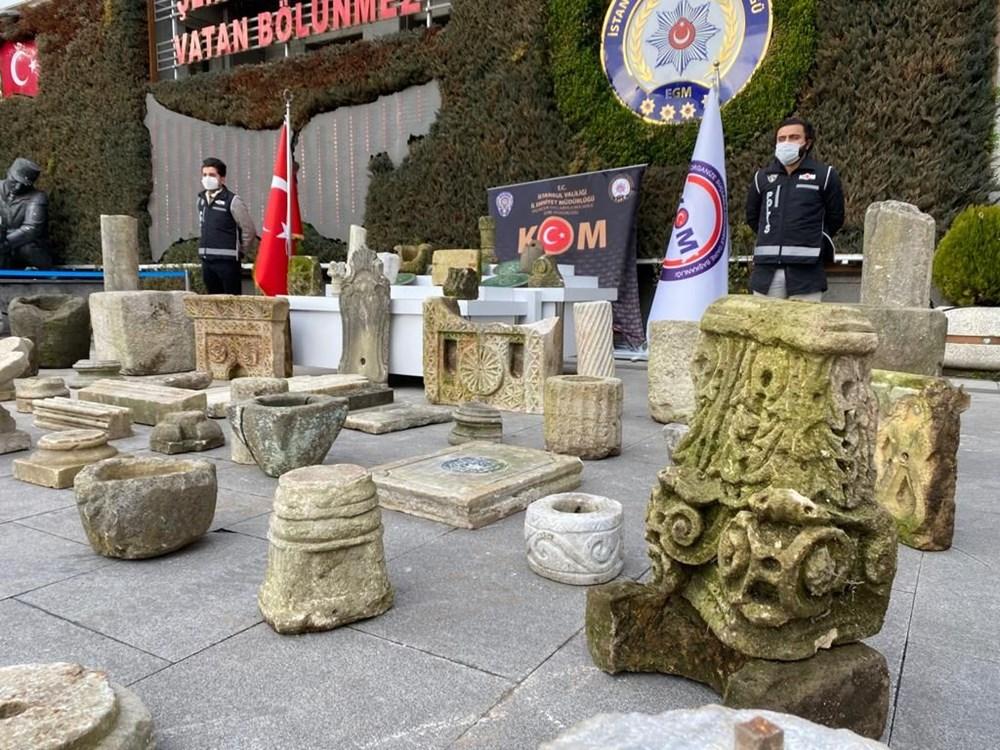 Beşiktaş'ta tarihi eser operasyonu:  Bizans ve Osmanlı dönemlerine ait eserler - 2