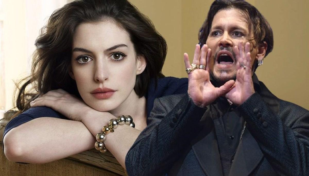 Anne Hathaway'dan Johnny Depp'e: Onun büyük bir hayranıyım