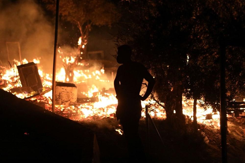 Midilli'deki sığınmacı kampında yangın - 4