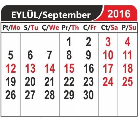 Okullar 19 Eylül Pazartesi günü açılacak. Kurban Bayramı tatili ise yine 9 gün.