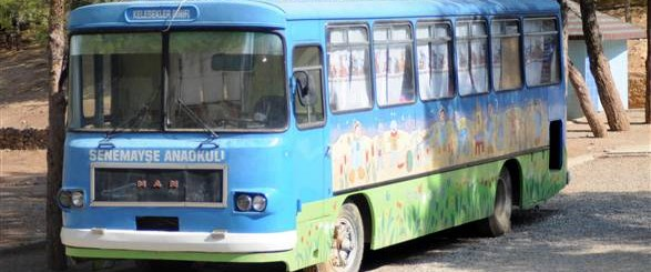 Sınıfları artık otobüs değil!