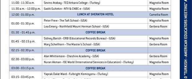 Türk ve Amerikalı eğitimciler birarada